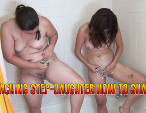 Teaching_StepDaughter_How_To_Shave